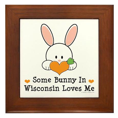 Some Bunny In Wisconsin Framed Tile