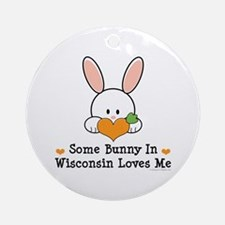 Some Bunny In Wisconsin Ornament (Round)