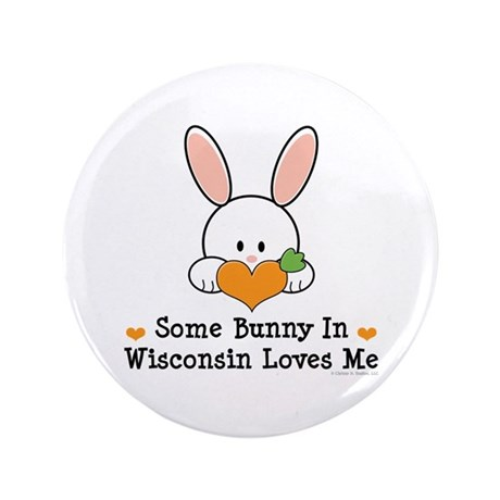 """Some Bunny In Wisconsin 3.5"""" Button (100 pack)"""