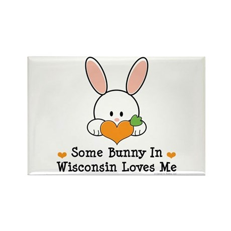 Some Bunny In Wisconsin Rectangle Magnet (100 pack
