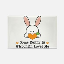 Some Bunny In Wisconsin Rectangle Magnet