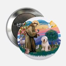 "St Francis #2 / Old English (#6) 2.25"" Button"