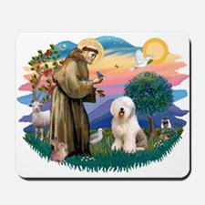 St Francis #2 / Old English (#6) Mousepad