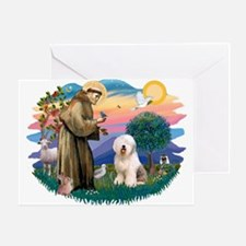 St Francis #2 / Old English (#6) Greeting Card