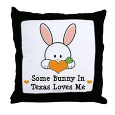 Some Bunny In Texas Loves Me Throw Pillow