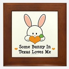 Some Bunny In Texas Loves Me Framed Tile