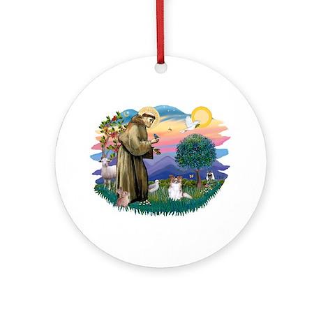 St. Francis #2 / Papillon (sw) Ornament (Round)