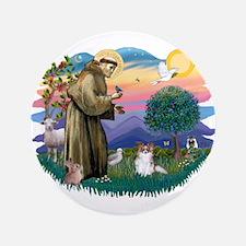"""St. Francis #2 / Papillon (sw) 3.5"""" Button"""