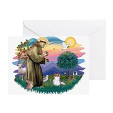 St. Francis #2 / Papillon (sw) Greeting Card