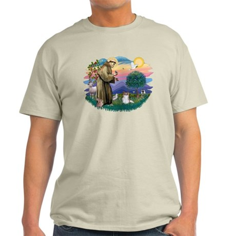 St. Francis #2 / Papillon (sw) Light T-Shirt