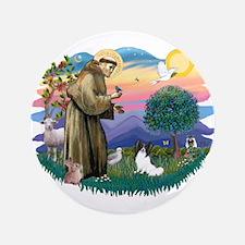 """St. Francis #2 / Papillon 3.5"""" Button"""