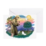 St. Francis #2 / Papillon Greeting Cards (Pk of 20