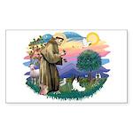 St. Francis #2 / Papillon Sticker (Rectangle)