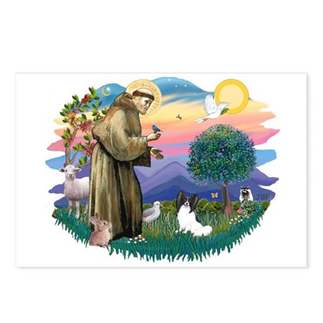St. Francis #2 / Papillon Postcards (Package of 8)
