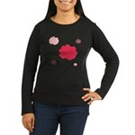Flower Silhouette Women's Long Sleeve Dark T-Shirt
