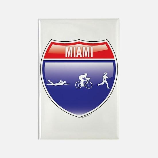 Interstate Miami Triathlon Rectangle Magnet