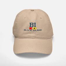 Block Island RI - Nautical Design Baseball Baseball Cap