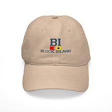 Block Island RI - Nautical Design Baseball Cap