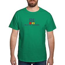 Block Island RI - Nautical Design T-Shirt
