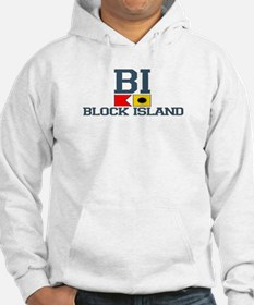 Block Island RI - Nautical Design Hoodie