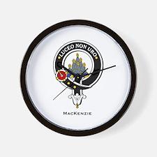 MacKenzie Clan Crest Badge Wall Clock