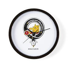 MacIver Clan Crest Badge Wall Clock