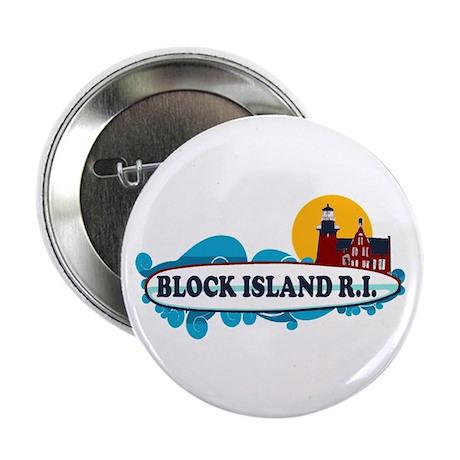 "Block Island RI - Surf Design 2.25"" Button"