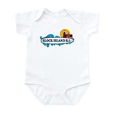 Block Island RI - Surf Design Infant Bodysuit