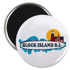 Block Island RI - Surf Design Magnet