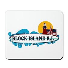 Block Island RI - Surf Design Mousepad
