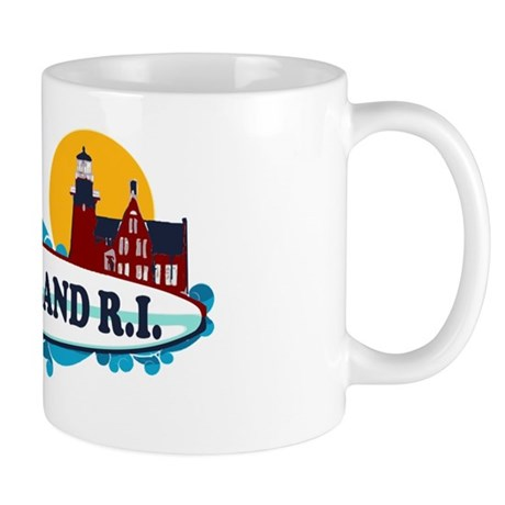 Block Island RI - Surf Design Mug