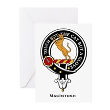 MacIntosh Clan Crest Badge Greeting Cards (Package