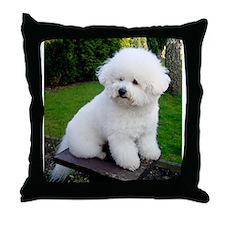 Funny Bichon frise Throw Pillow