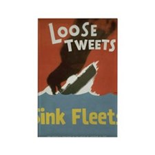 Loose Tweets Rectangle Magnet