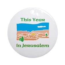 This Year In Jerusalem Ornament (Round)