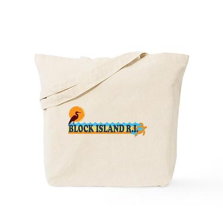 Block Island RI - Beach Design Tote Bag