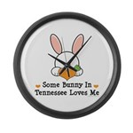 Some Bunny In Tennessee Loves Me Large Wall Clock