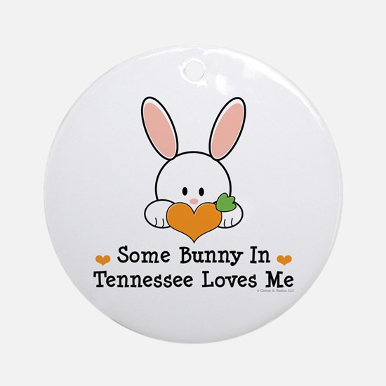 Some Bunny In Tennessee Loves Me Ornament (Round)