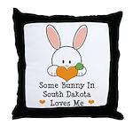 Some Bunny In South Dakota Throw Pillow