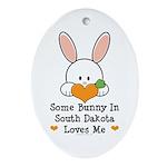Some Bunny In South Dakota Ornament (Oval)