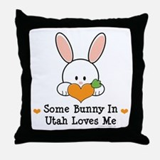 Some Bunny In Utah Loves Me Throw Pillow
