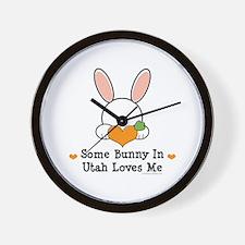 Some Bunny In Utah Loves Me Wall Clock