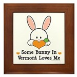 Some Bunny In Vermont Loves Me Framed Tile