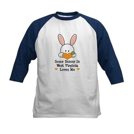 Some Bunny In West Virginia Kids Baseball Jersey