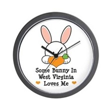 Some Bunny In West Virginia Wall Clock