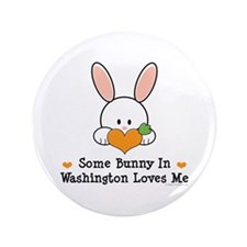 "Some Bunny In Washington 3.5"" Button"