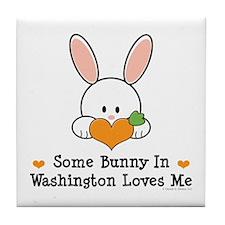 Some Bunny In Washington Tile Coaster