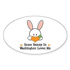 Some Bunny In Washington Decal
