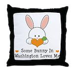 Some Bunny In Washington Throw Pillow