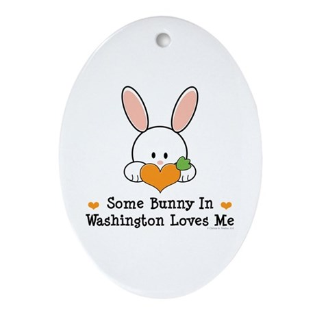 Some Bunny In Washington Ornament (Oval)